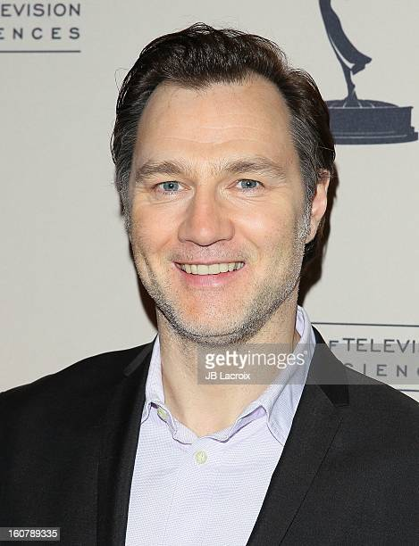 David Morrissey attends an evening with The Walking Dead presented by The Academy Of Television Arts Sciences at Leonard H Goldenson Theatre on...