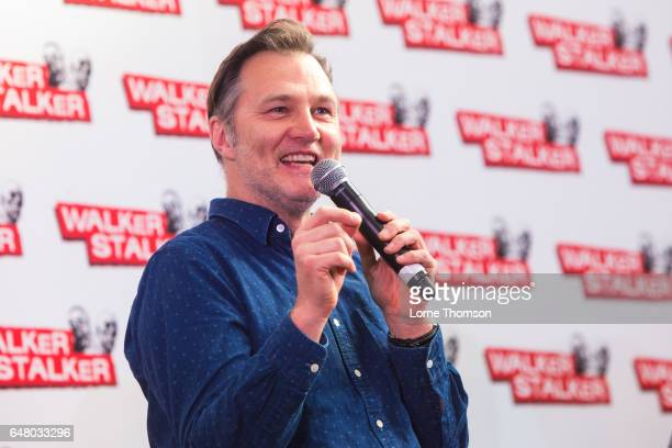 David Morrissey is interviewed on day one of the 'Walker Stalker' convention at London Olympia on March 4 2017 in London United Kingdom