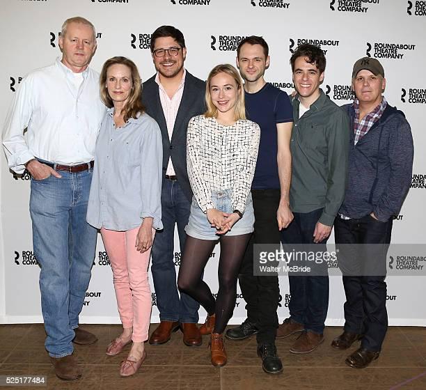 David Morse, Lisa Emery, Rich Sommer, Sarah Goldberg, Christopher Denham, Playwright Steven Levenson & Director Scott Ellis attending the Meet and...