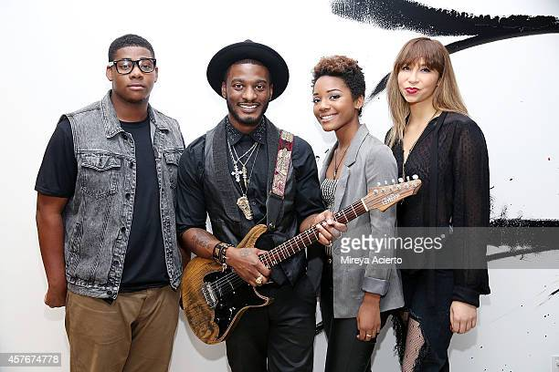 David Moses, Timothy Bloom, Olivia Boisrond and Knoelle Higginson attend AOL BUILD Series Presents: Musician, Timothy Bloom at AOL Studios on October...
