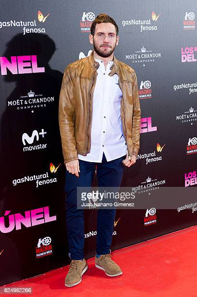 david Moya attends 'Los Del Tunel' premiere during the Madrid Premiere Week at Callao Cinema on November 21 2016 in Madrid Spain