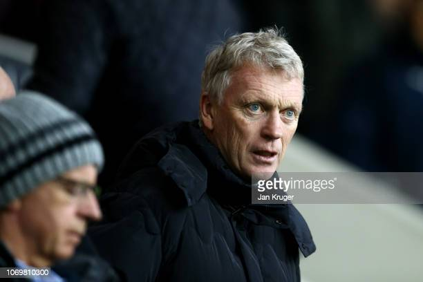 David Moyes looks on during the Premier League match between Burnley FC and Brighton Hove Albion at Turf Moor on December 8 2018 in Burnley United...