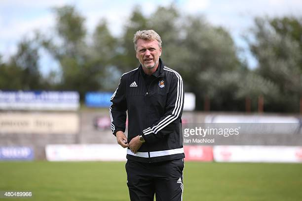 David Moyes manager of Real Sociedad looks on during the pre season friendly match between St Johnstone and Real Sociedad at Bayview on July 12 2015...