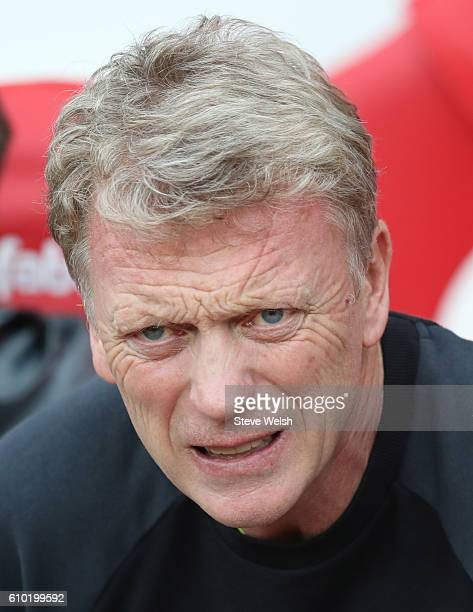David Moyes manager of Sunderland during the Premier League match between Sunderland and Crystal Palace FC on September 24 2016 in Sunderland England