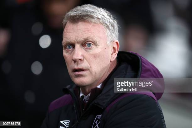 David Moyes manager of West Ham United during the Emirates FA Cup Third Round Replay match between West Ham United and Shrewsbury Town at London...