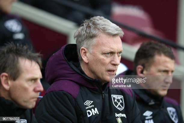 David Moyes manager of West Ham United during the Premier League match between West Ham United and AFC Bournemouth at London Stadium on January 20...