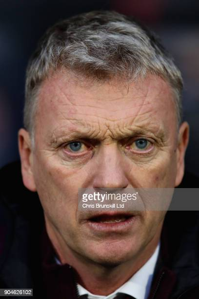 David Moyes Manager of West Ham United looks on during the Premier League match between Huddersfield Town and West Ham United at John Smith's Stadium...