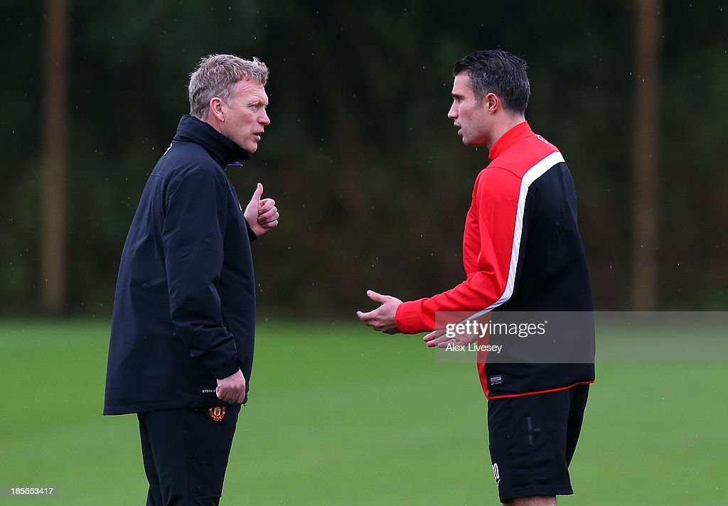 Manchester United Training & Press Conference : News Photo