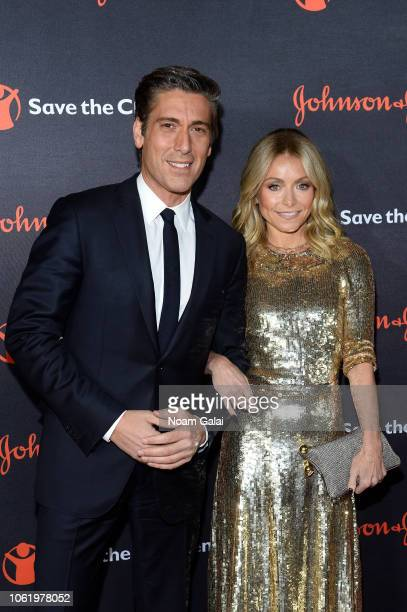 David Muir and Kelly Ripa attend the 6th Annual Save the Children Illumination Gala at the American Museum of Natural History on November 14 2018 in...