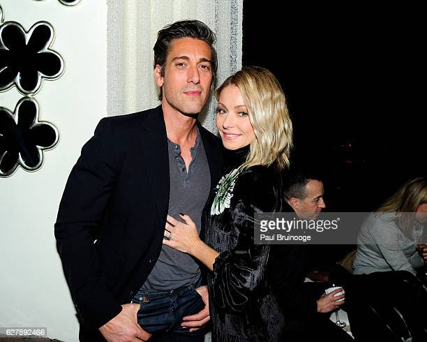 David Muir and Kelly Ripa attend The Cinema Society with Piaget host the after party for EuropaCorps Miss Sloane at 432 Park Avenue Residence 86B on...