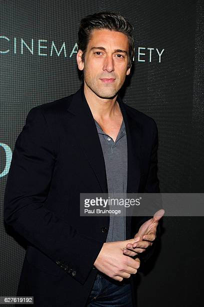 David Muir attends The Cinema Society with Piaget Host a Screening of EuropaCorp's Miss Sloane at SAGAFTRA Foundation Robin Williams Center on...