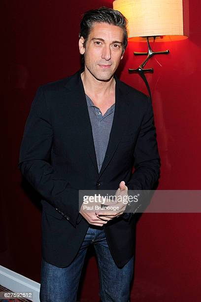 David Muir attends The Cinema Society with Piaget host the after party for EuropaCorps Miss Sloane at 432 Park Avenue Residence 86B on December 3...