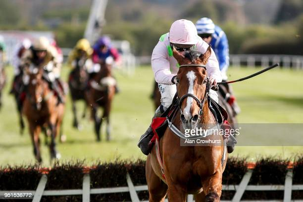 David Mullins riding Faugheen clear the last to win The Ladbrokes Champion Stayers Hurdle at Punchestown racecourse on April 26 2018 in Naas Ireland