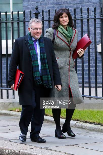 David Mundell Secretary of State for Scotland and Claire Perry Minister of State at Department for Business Energy and Industrial Strategy are seen...