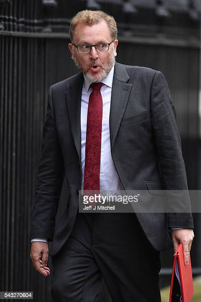 David Mundell Secretary of State for Scotland arrives for a cabinet meeting at Downing Street on June 27 2016 in London England British Prime...