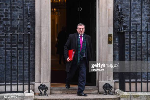 David Mundell UK Scottish secretary departs number 10 Downing Street following a weekly meeting of Cabinet minsters in London UK on Tuesday Feb 12...