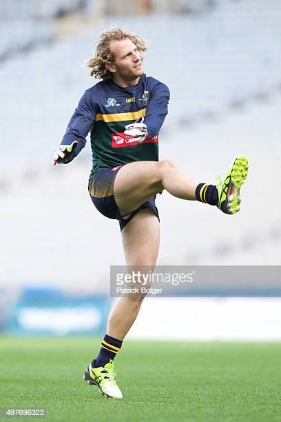 David Mundy of Australia in action during International Rules Training on November 18 2015 in Croke Park Dublin Ireland