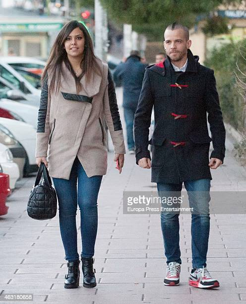 David Munoz and Cristina Pedroche are seen on February 8 2015 in Madrid Spain