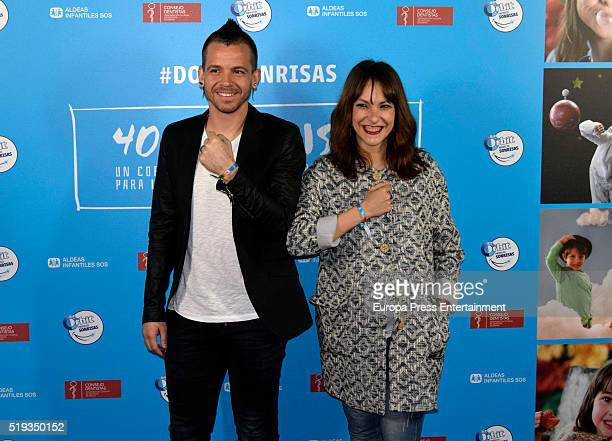 David Munoz and Paula Ortiz attend the presentation of 'Proyecto Sonrisas' by the chef of Diverxo David Munoz and filmmaker Paula Ortiz for Aldeas...