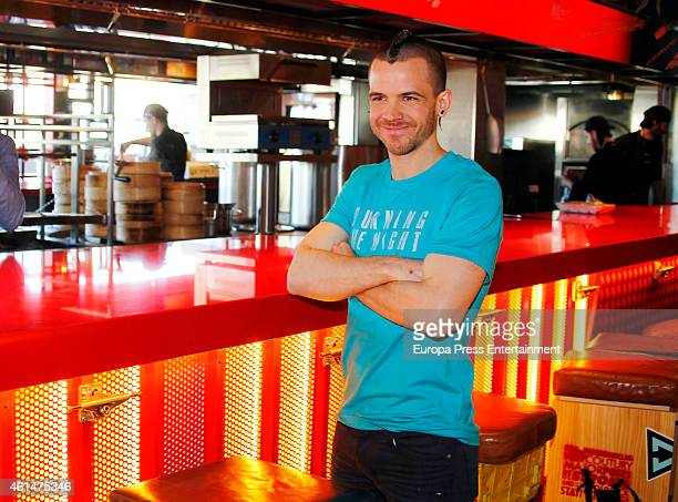 David Munoz attends the opening of a new 'StreetXo' restaurant at El Corte Ingles Serrano store on January 12 2015 in Madrid Spain