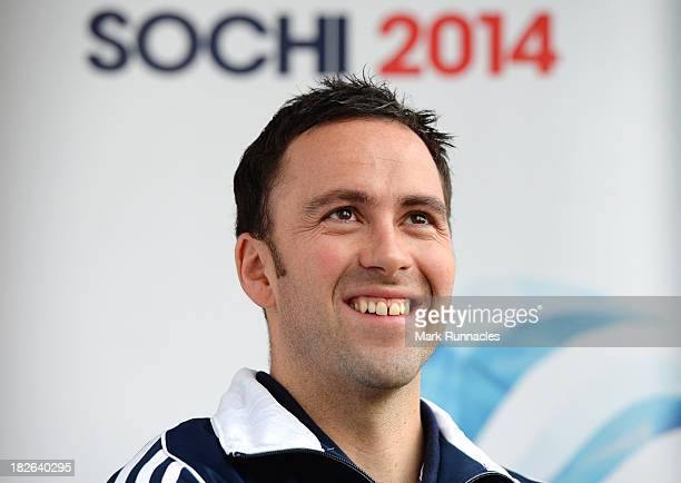 David Murdoch during a press conference to announce he has been selected for the Team GB Curling team for the Sochi 2014 Winter Olympic Games at The...