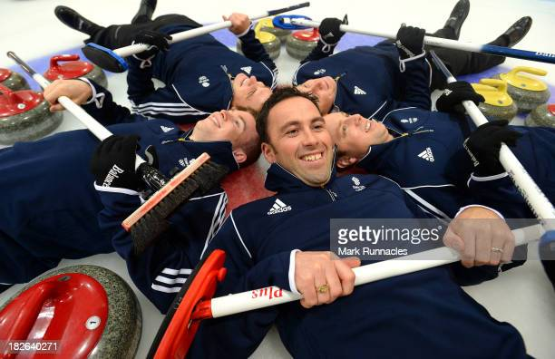 David Murdoch Greg Drummond Scott Andrews Micheal Goodfellow and Tom Brewster during a press conference to announce they have been selected for the...