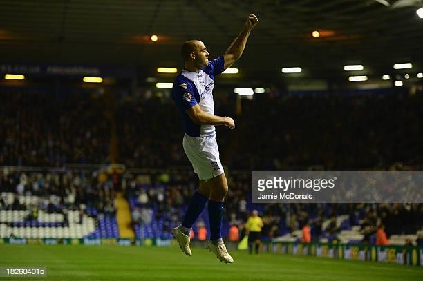 David Murphy of Birmingham City celebrates his goal during the Sky Bet Championship match between Birmingham City and Millwall at St Andrews Stadium...