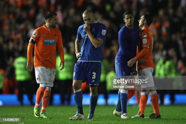 David Murphy of Birmingham City is dejected at the final whistle after his sides 23 aggregate defeat during the npower Championship Playoff Semi...
