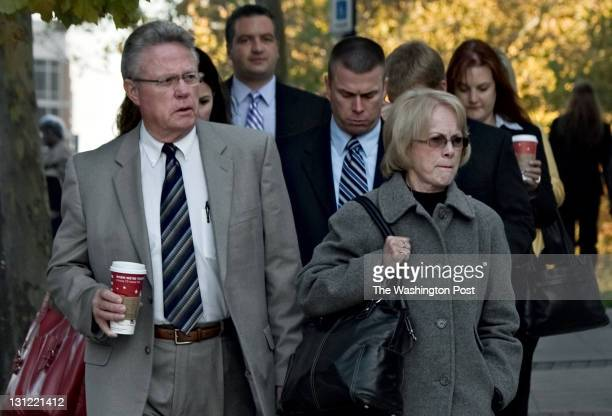 David Murray and Phyllis Murray parents of slain Lululemon employee Jayna Murray arrive at the courthouse earlier today