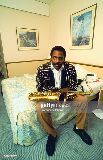 David Murray poses for a portrait in a hotel room at The North Sea Jazz Festival on July 11 1999 in The Hague, Netherlands.