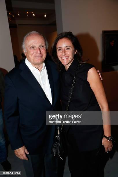 David Nahmad and Isabelle Bresset attend Picasso Bleu et Rose Exhibition at Musee d'Orsay on September 16 2018 in Paris France