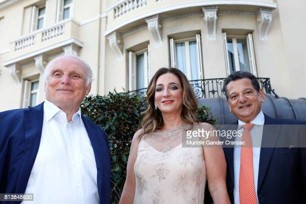 David Nahmad Rebeca and Salomon Cohen attend the Friends Of Sheba Medical Center 'DRINKDANCEDONATE' event at Hotel Hermitage on July 12 2017 in...