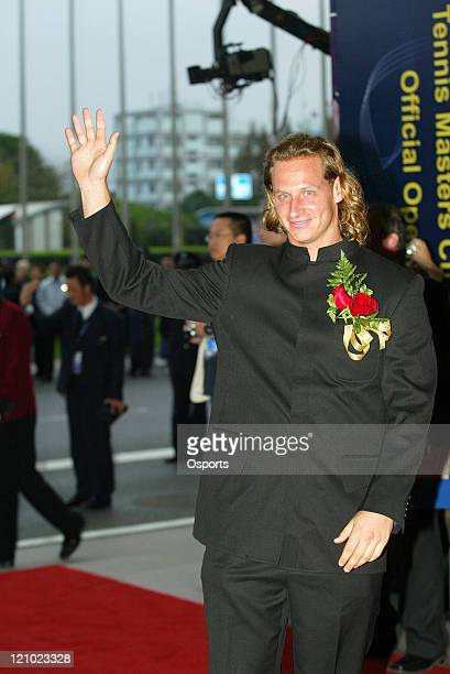 David Nalbandian during a press conference prior to the 2006 Masters Tennis Cup Shanghai in Shanghai China on November 11 2006