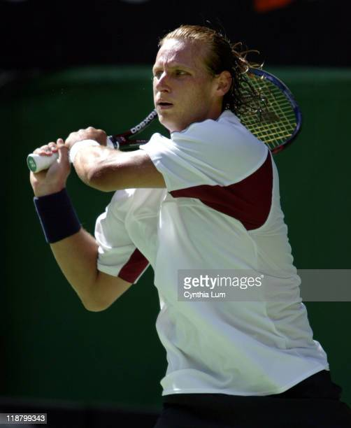 David Nalbandian moves ahead in Australia with a 6-2, 6-4, 7-5 win over Wayne Ferriera during their third round match at the Australian Open January...