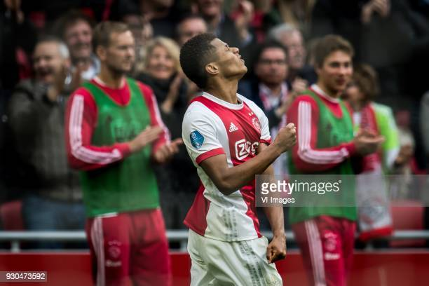 David Neres of Ajax 41 during the Dutch Eredivisie match between Ajax Amsterdam and sc Heerenveen at the Amsterdam Arena on March 11 2018 in...