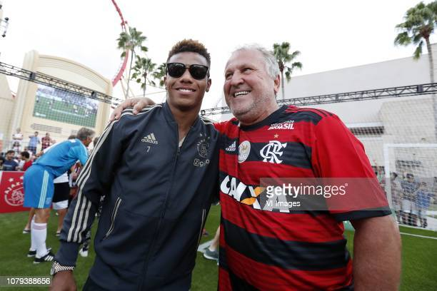 David Neres of Ajax Arthur Antunes Coimbra during a Legends match 5 v 5 of the Florida Cup 2019 at the Universal Studios on January 08 2019 in...
