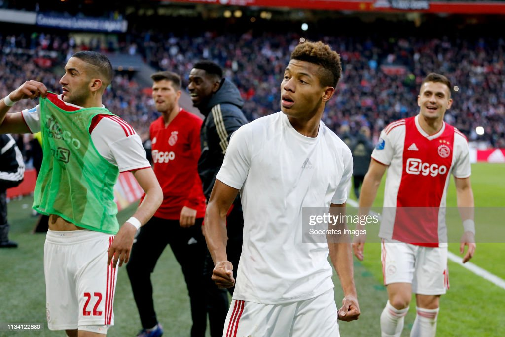 David Neres Of Ajax Celebrates 3 1 During The Dutch Eredivisie Match News Photo Getty Images