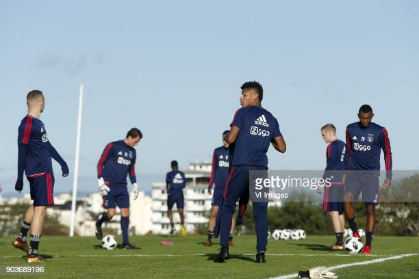 David Neres of Ajax during a training session of Ajax Amsterdam at the Cascada Resort on January 08 2018 in Lagos Portugal