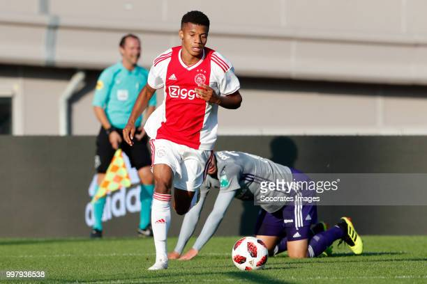 David Neres of Ajax during the Club Friendly match between Ajax v Anderlecht at the Olympisch Stadion on July 13 2018 in Amsterdam Netherlands