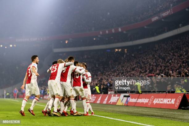 David Neres of Ajax during the Dutch Eredivisie match between Ajax Amsterdam and PSV Eindhoven at the Amsterdam Arena on December 10 2017 in...