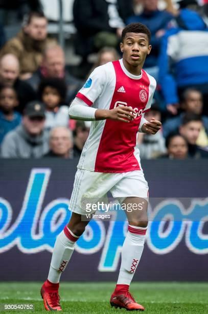 David Neres of Ajax during the Dutch Eredivisie match between Ajax Amsterdam and sc Heerenveen at the Amsterdam Arena on March 11 2018 in Amsterdam...