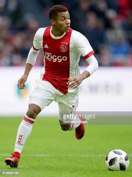 David Neres of Ajax during the Dutch Eredivisie match between Ajax v Fc Twente at the Johan Cruijff Arena on February 11 2018 in Amsterdam Netherlands
