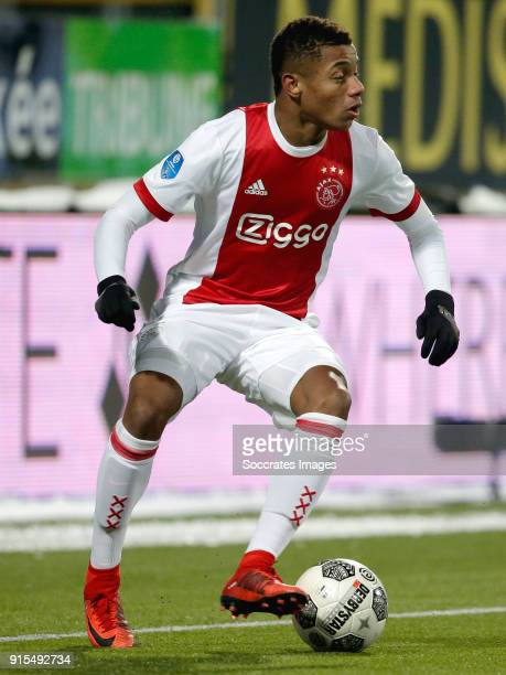 David Neres of Ajax during the Dutch Eredivisie match between Roda JC v Ajax at the Parkstad Limburg Stadium on February 7 2018 in Kerkrade...
