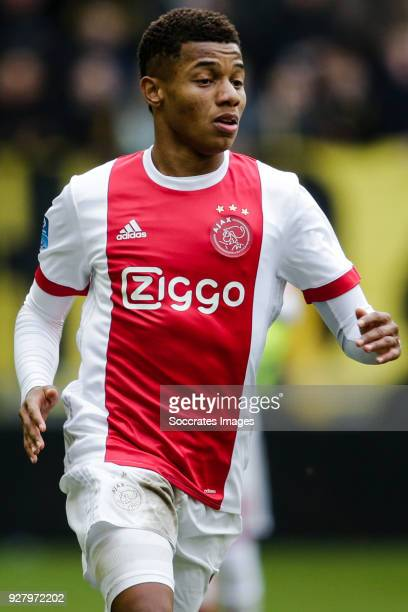 David Neres of Ajax during the Dutch Eredivisie match between Vitesse v Ajax at the GelreDome on March 4 2018 in Arnhem Netherlands