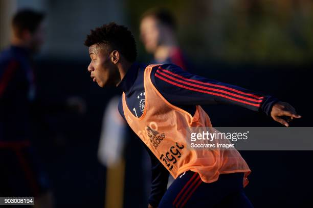 David Neres of Ajax during the match between Training Camp Ajax in Portugal on January 8 2018 in Lagos Portugal