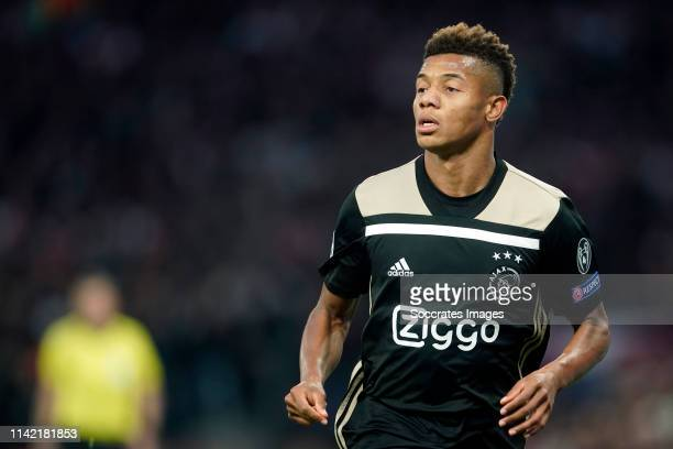 David Neres of Ajax during the UEFA Champions League match between Tottenham Hotspur v Ajax at the Tottenham Hotspur Stadium on April 30 2019 in...