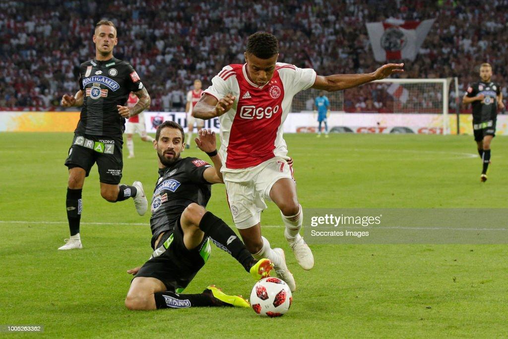 Ajax v SK Sturm Graz - UEFA Champions League : Nachrichtenfoto