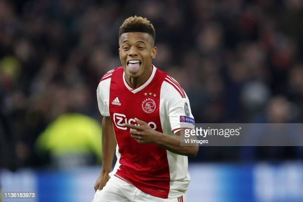 David Neres of Ajax during the UEFA Champions League quarter final match Ajax Amsterdam and Juventus FC at the Johan Cruijff Arena on April 10 2019...