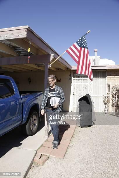 David Nevins of MoveOn canvass for Ann Kirkpatrick on November 3 2018 in Tucson Arizona