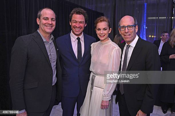 David Nevins President Showtime Networks actors Dominic West Ruth Wilson and Matthew C Blank Chairman and CEO Showtime Networks attend the premiere...